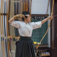 The 120-year-old Urakami Dojo in Tokyo's Denenchofu district is overseen by Kaori Urakami.  Urakami, dispensing advice and demonstrating her own skills when required, has created an atmosphere that is disciplined but congenial. | STEPHEN MANSFIELD