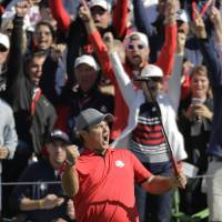 U.S. races to lead in Ryder Cup