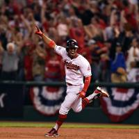 Indians rock Porcello in third en route win over Red Sox in Game 1