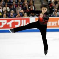 Shoma Uno, who won his second senior Grand Prix title at Skate America on Sunday, is being touted by experts as a potential medalist as this season's world championships. | REUTERS