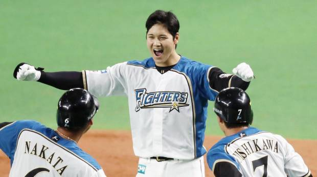 Otani delivers game-winning single in 10th as Fighters prevail in Game 3