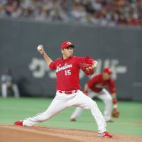 Carp hurler Hiroki Kuroda made what could be the last start of his professional baseball career on Tuesday. He is retiring after the Japan Series. | KYODO