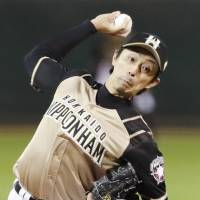 Fighters starter Hirotoshi Masui pitched three innings in Game 6. | KYODO
