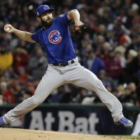 Arrieta shuts down Indians as Cubs even World Series