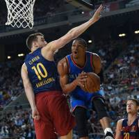 Thunder beat Barcelona for first win of post-Durant era