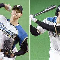 The Fighters' Shohei Otani has excelled both on the mound and at the plate this season for the Pacific League club. | KYODO