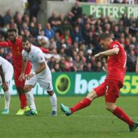 Liverpool regroups in second half to rally past Swansea