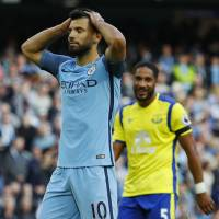 City misses two penalties, salvages point against Everton