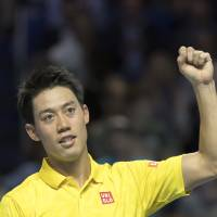 Nishikori advances to face Cilic in Swiss Indoors final