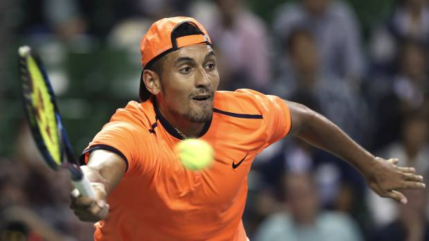 Kyrgios banned, fined over antics in Shanghai