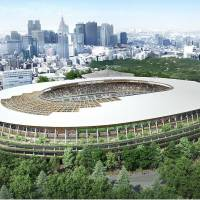 A rendering of the new National Stadium. | KYODO