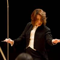 At the podium: Tomomi Nishimoto will conduct the Jerusalem Symphony Orchestra at 10 concerts in Japan during an upcoming tour. | DAISUKE OKI