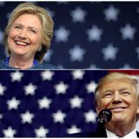 U.S. presidential nominees Hillary Clinton and Donald Trump speak at campaign rallies in late October.  | REUTERS