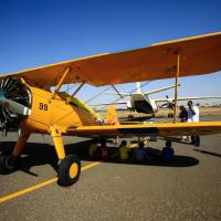 Khartoum welcomes vintage biplanes on cross-Africa trek from Crete to Cape Town