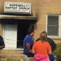 Black Mississippi church torched, 'Vote Trump' sprayed on ruins in apparent hate crime