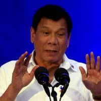 The Philippines' Duterte says he wants to be friends with Trump, Putin
