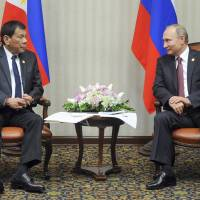 Philippines' Duterte meets 'hero' Putin