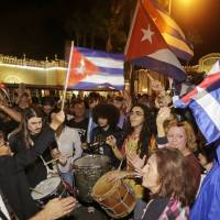 Miami parties hard as news of Castro's death spreads