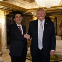 After New York meeting, Abe confident Trump can be trusted