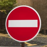 A stop sign at Tokyo University. The AI program dubbed Todai Robot had steadily improved its academic performance, but the research team found a limit in its ability to understand various exam questions. | ISTOCK