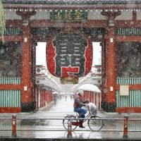 Tokyo area gets first November dusting of snow in 54 years