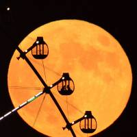 'Supermoon' looms Monday night but overcast may dampen Japan's view