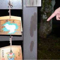 A Shinto shrine in the city of Kashihara, Nara Prefecture, was vandalized with a colorless liquid Monday. | KYODO