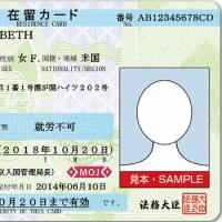 A picture of a generic residence card. Under a proposed system, certain workers will be able to submit a fast-tracked application for permanent residency. | IMMIGRATION BUREAU WEBSITE