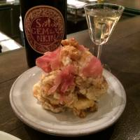 Not to be missed: Gem by Moto's terrific potato salad, which includes cheese, walnuts, and prosciutto. | ROBBIE SWINNERTON