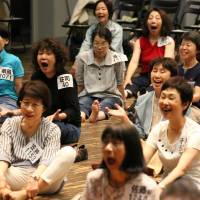 Vocal exercises: An audition call went out for the 10,000 Gold Theater project and three-quarters of the respondants are women. | MAIKO MIYAGAWA