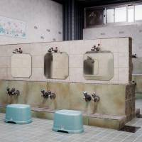 A washing area at Akebono-yu in Edogawa Ward | DAN SZPARA