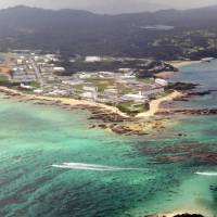 U.S. Marine Corps Camp Schwab has been proposed as a site for operations relocated from Futenma air base. | KYODO, COURTESY OF MASAMI KAWAMURA