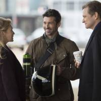 Renee Zellweger as Bridget, Patrick Dempsey as Jack and Colin Firth as Mark have a lot to discuss in 'Bridget Jones's Baby.' | © UNIVERSAL PICTURES