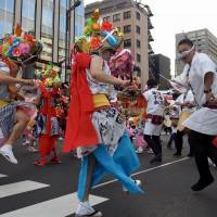 For the real Aomori Nebuta Matsuri, visitors can rent costumes and join the fun. | MARK THOMPSON