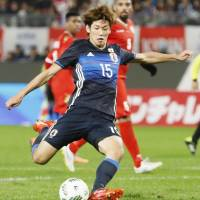 Japan's Osako delivers two-goal performance in rout of Oman