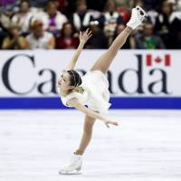 Satoko Miyahara under-rotated three jumps during her free skate and may need to rethink her approach. | AP
