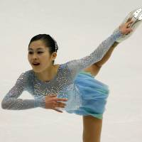 Satoko Miyahara is in third place with 64.20 points after the women's short program. | REUTERS