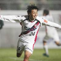 Dramatic winner sends Okayama into promotion playoff final