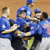 Kawasaki glad to experience Cubs' long-awaited title triumph from bench