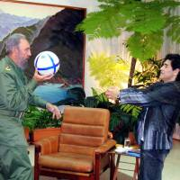 Maradona mourns passing of 'second father' Castro