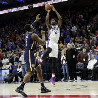 Sixers edge Pacers for first win