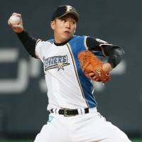 Yuki Saito made just 11 appearances for the Fighters' top team last season and had an 0-1 record with a 4.56 ERA. | KYODO