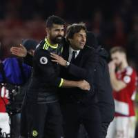 Costa sends Chelsea into first place