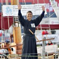 Japanese solo sailor Shiraishi departs with 28 others on 'Everest of the Seas' circumnavigation