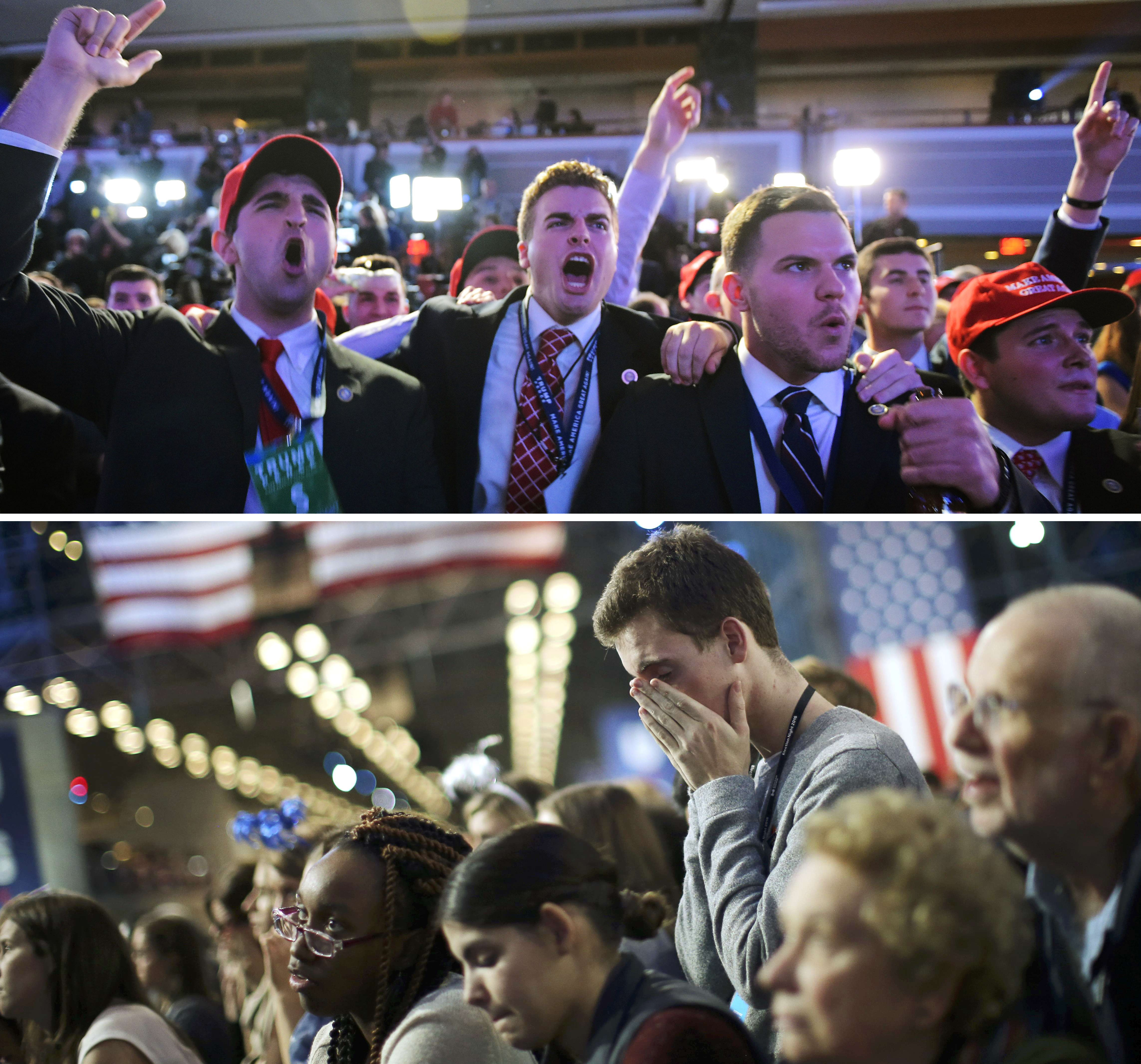 The highs and lows of the 2016 presidential election night. | REUTERS