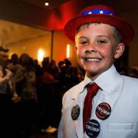 A young Trump supporter at election night party in Greenwood Village, Colorado.  | AFP-JIJI