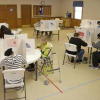 Polling station at the Princeton Baptist Church in Princeton, North Carolina | REUTERS