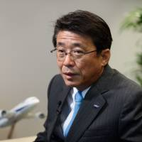 Shinya Katanozaka, president and CEO of ANA Holdings Inc., is interviewed in Tokyo on Monday.   BLOOMBERG