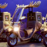 Unruly reindeer steer Domino's pizza delivery plan off course