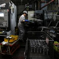 Japan's private-sector machinery orders rose a seasonally adjusted 4.1 percent in October. | BLOOMBERG